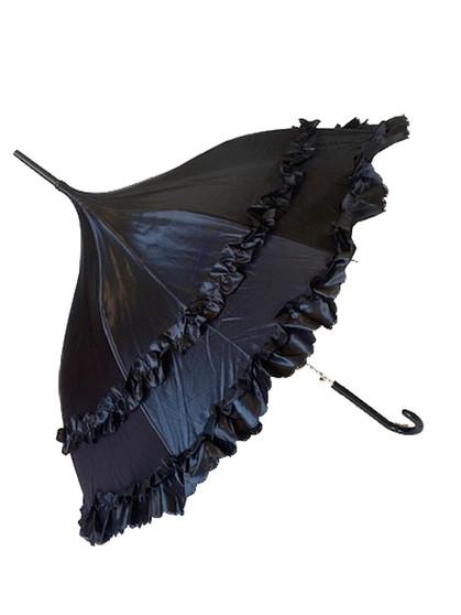 Umbrella Black Deluxe - automatic satin umbrella