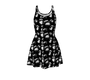 Oddities Dress - Black with white specimen graphics