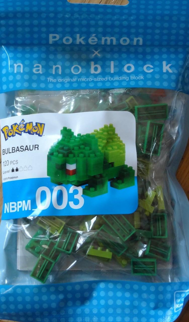 Bulbasaur Pokemon Nanoblock Micro Sized Building Block Construction NBPM003