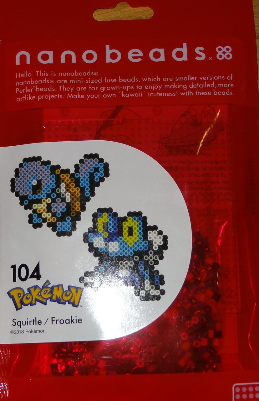 Squirtle Pokemon Nanobeads Miniature beads 104