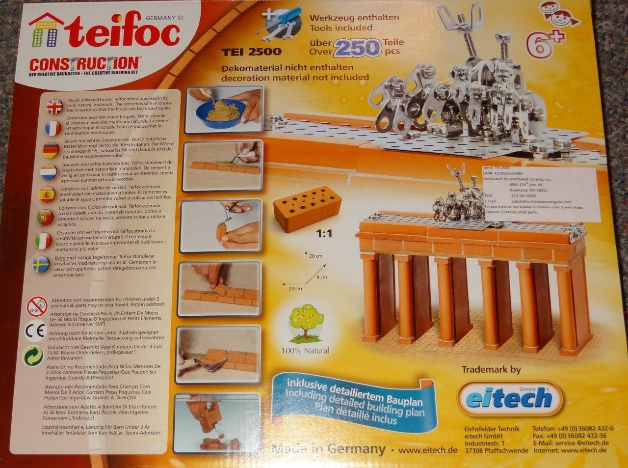 TEIFOC CONSTRUCTION REAL BRICKS /& MATERIALS KIDS TOYS GAMES BRANDENBURGER GATE