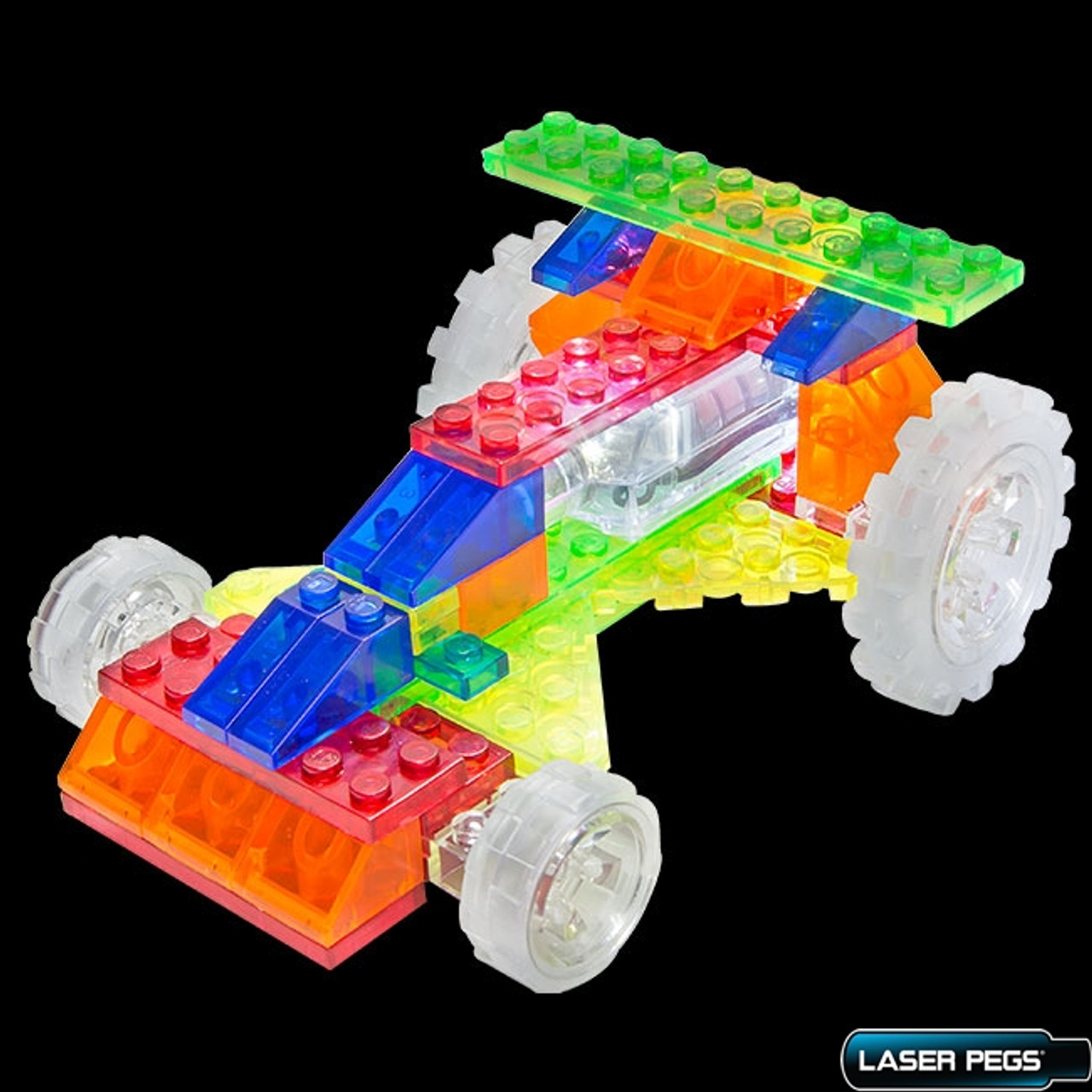Top Fuel Dragster Laser Pegs 6 in 1 Light Up building block Works with any brick