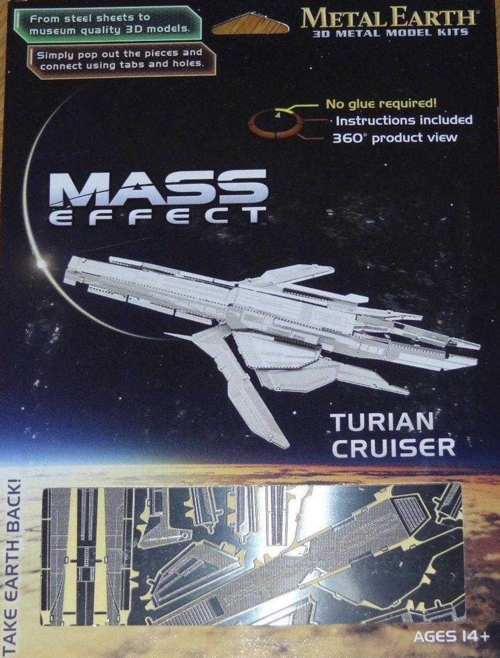 Turian Cruiser Mass Effect Metal Earth Corner Pockets