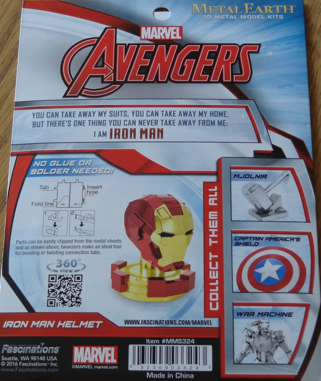 Iron Man Helmet MMS324 Fascinations Metal Earth 3D Metal Model Kit