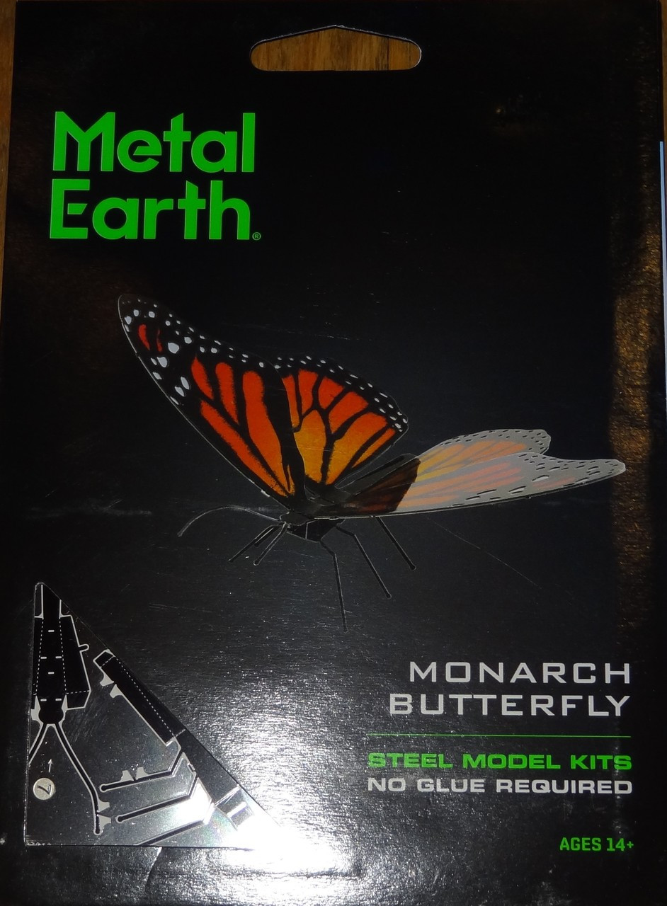 Fascinations Metal Earth Red Spotted Purple Butterfly 3D Metal Model Kit