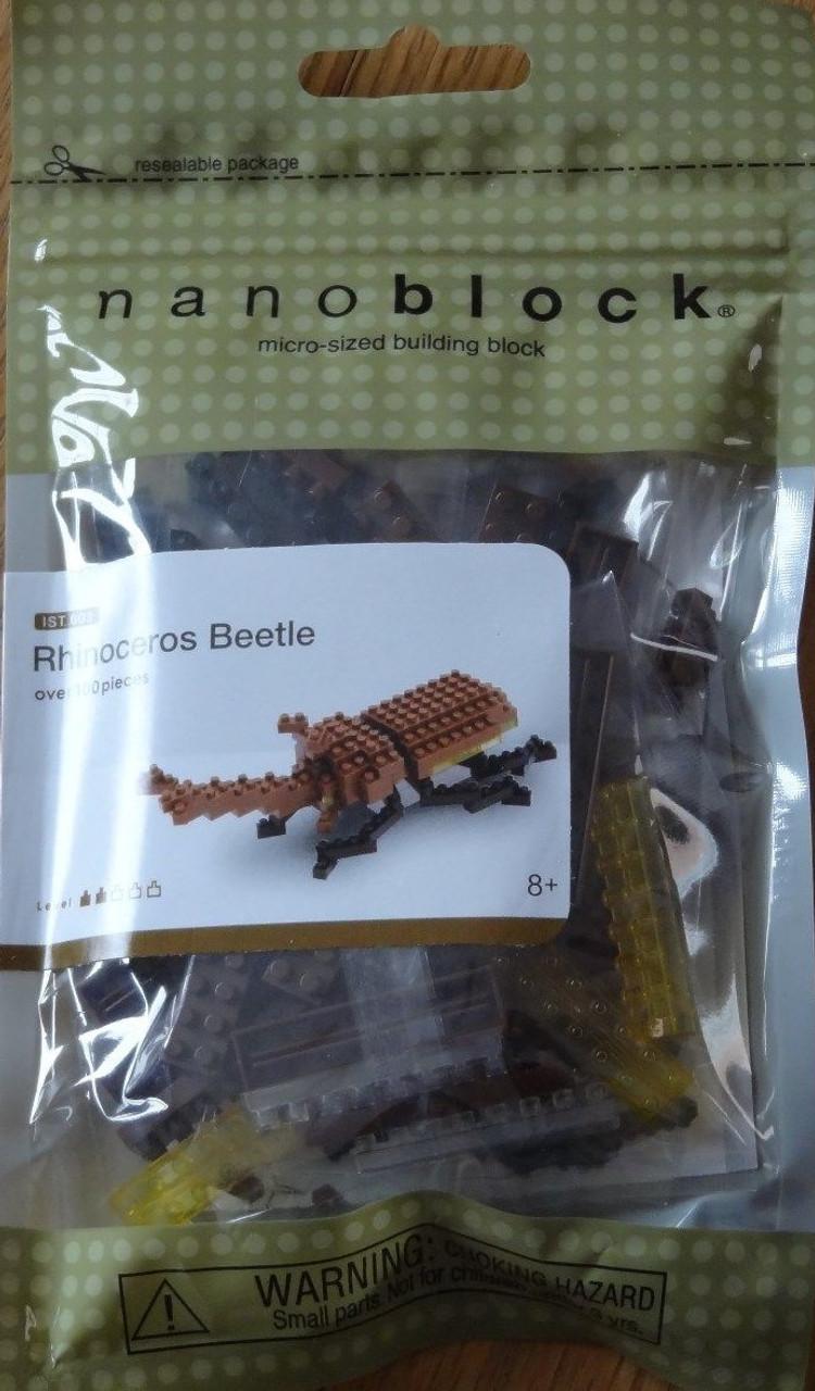 Nanoblock Rhinoceros Beetle 100 Pcs Building Kit S.58178