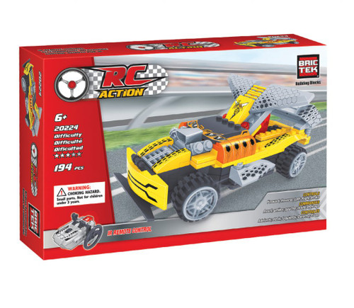 Radio Control Yellow Racing Car BricTek