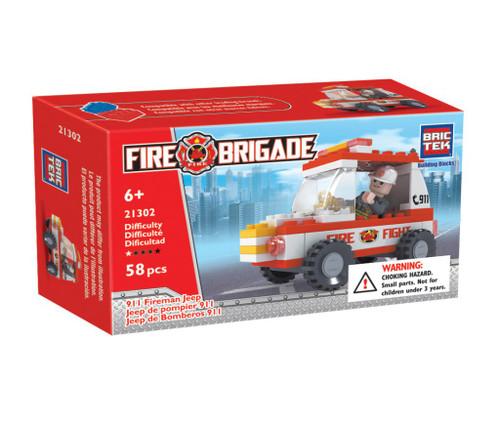 911 Fireman Jeep BricTek