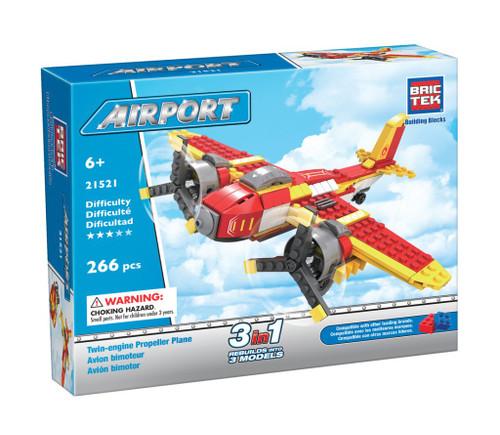 Twin Engine Propeller Plane BricTek