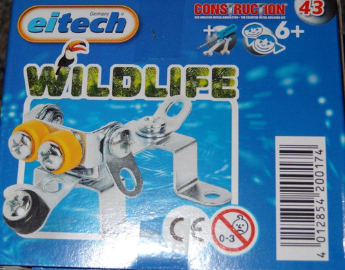Wildlife Dog Eitech Metal Construction Building Toy C43