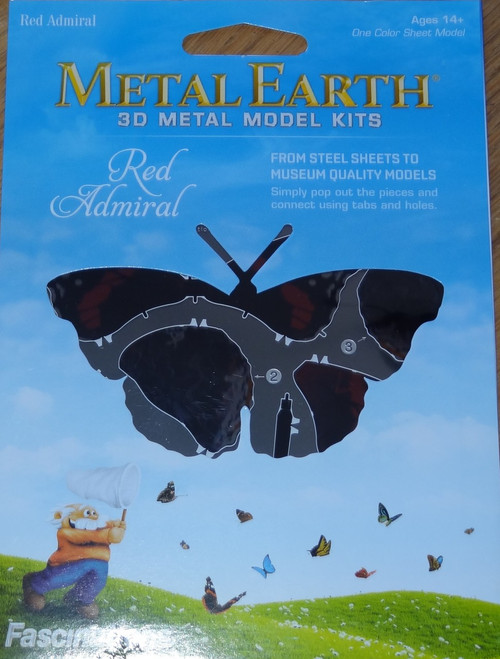 Red Admiral Butterfly Metal Earth