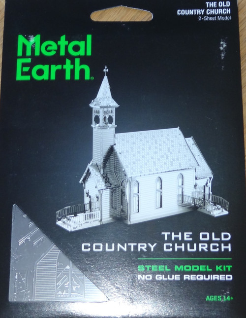 The Old Country Church Metal Earth