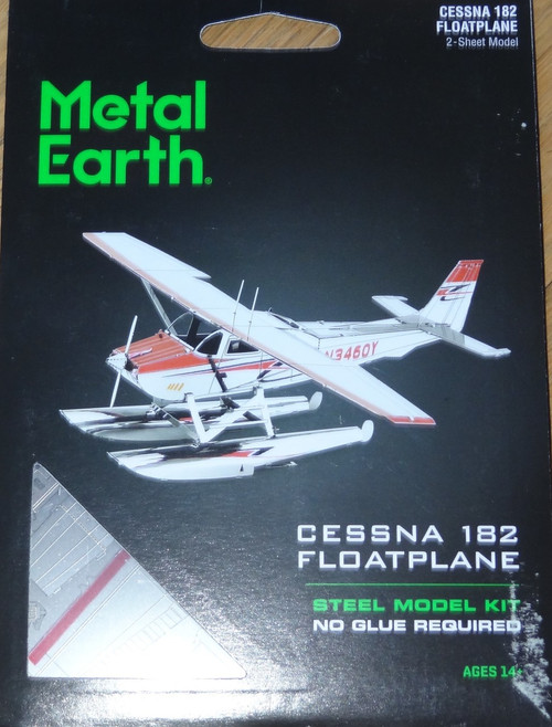 Cessna 182 Floatplane Airplane Metal Earth