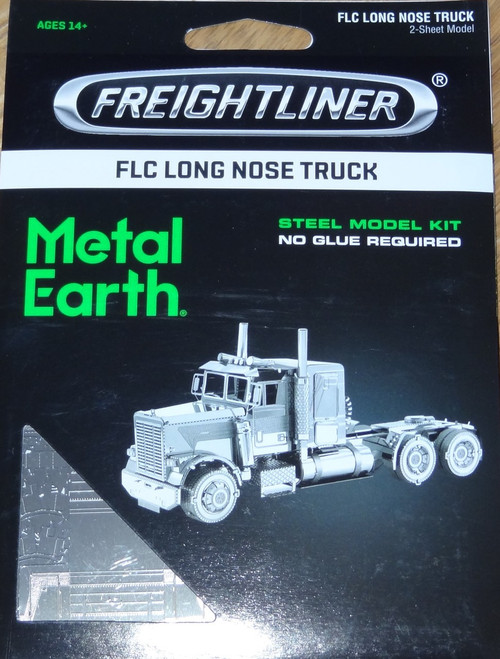 FLC Long Nose Truck Freightliner Metal Earth