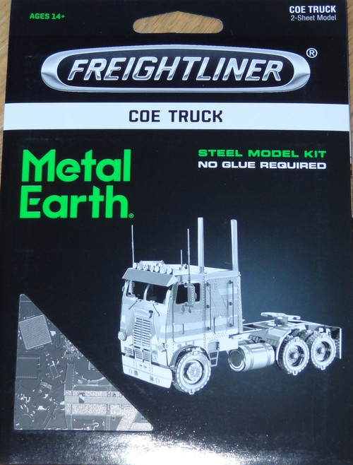 COE Truck Freightliner Metal Earth