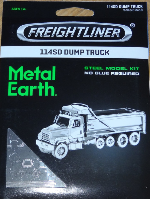 114SD Dump Truck Freightliner Metal Earth