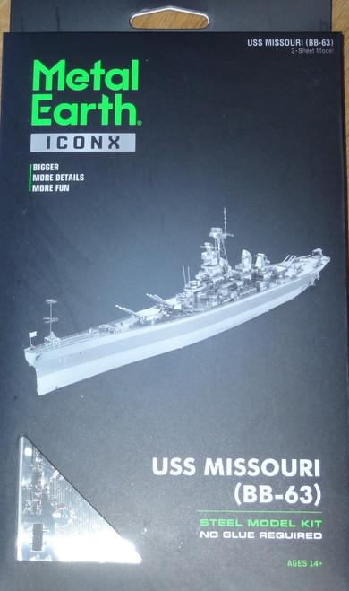 USS Missouri (BB-63) ICONX 3D Metal Model Kit