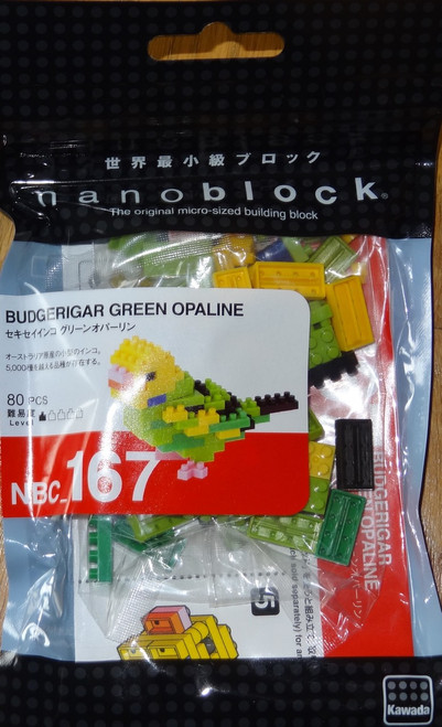Budgerigar Green Opaline Nanoblock Micro-Sized Building Block brick Bird NBC167