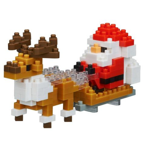 Santa Clause with Reindeer Nanoblock