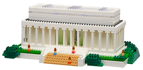 Lincoln Memorial TICO Mini Building Bricks