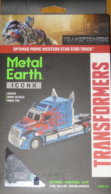 Optimus Prime Western Star 5700 Truck ICONX 3D Metal Model Kit