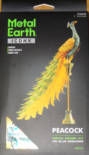 Peacock ICONX 3D Metal Model Kit