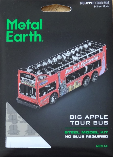 Big Apple Tour Bus Metal Earth