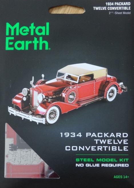 1934 Packard Twelve Convertible Metal Earth