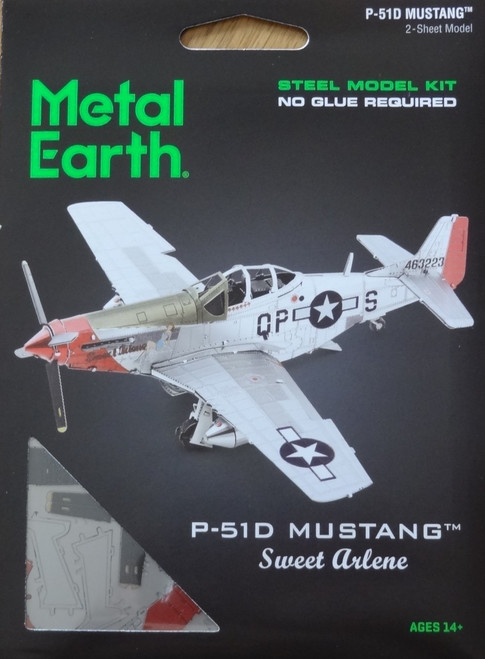 "P-51D Mustang ""Sweet Arlene"" Airplane Metal Earth"