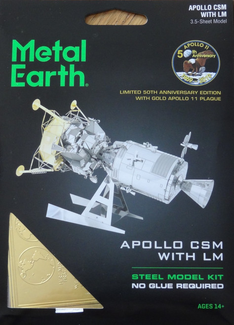 Apollo CSM with LM Metal Earth