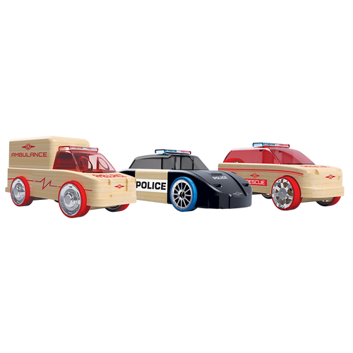 Rescue SUV/ Police Cruiser/ Ambulance 3 Pack  Automoblox Minis