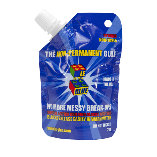 Le-Glue Non-Permanent Building Block Glue 2oz