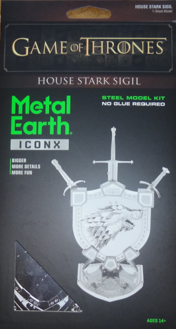 House Stark Sigil Game of Thrones ICONX 3D Metal Model Kit