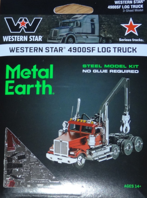 Western Star 4900SF Log Truck Metal Earth