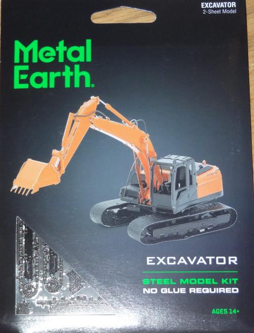 Excavator Metal Earth