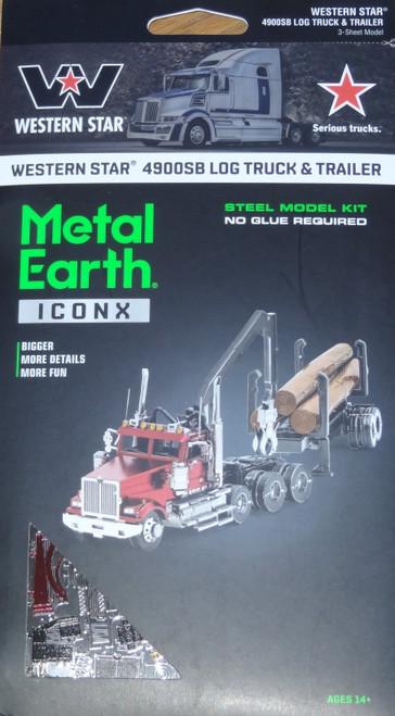 Western Star 4900SB Log Truck & Trailer ICONX Metal Earth