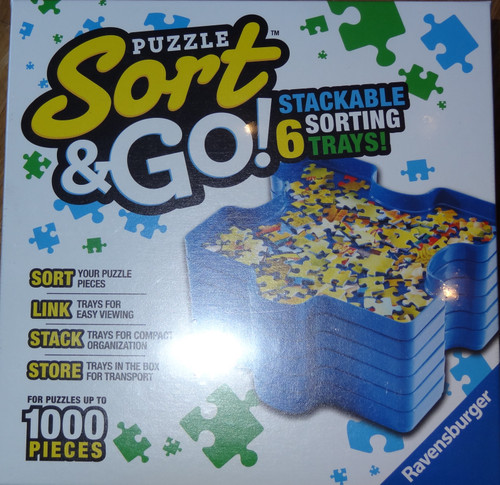Puzzle Sort & Go! Stackable Sorting Trays
