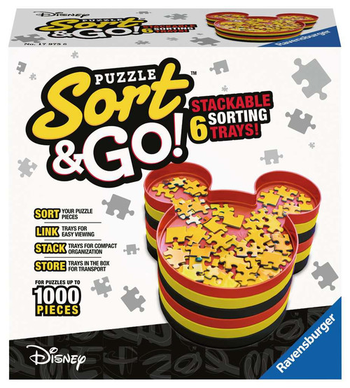 Disney Mickey Puzzle Sort & Go! Stackable Sorting Trays