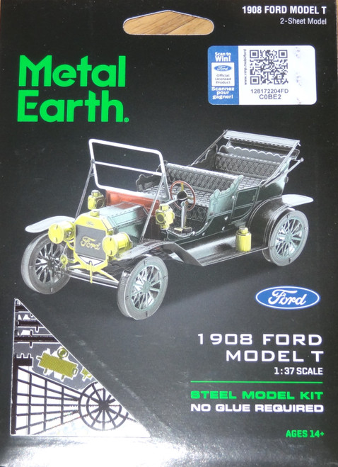 Ford 1908 Model T Metal Earth (Color)