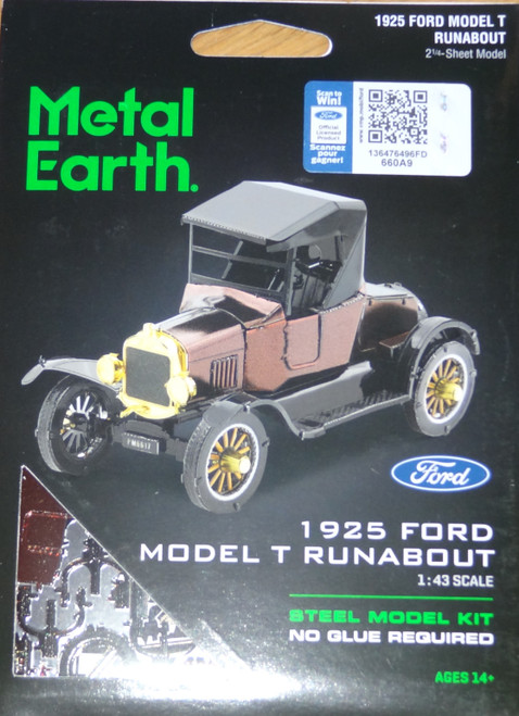 Ford 1925 Model T Runabout Metal Earth