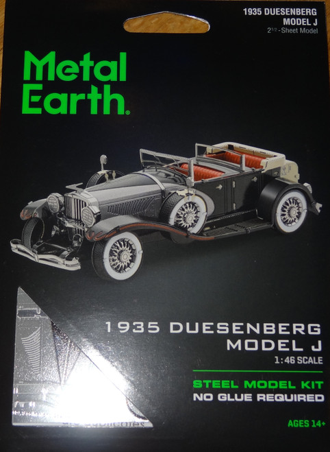 1935 Duesenberger Model J Metal Earth