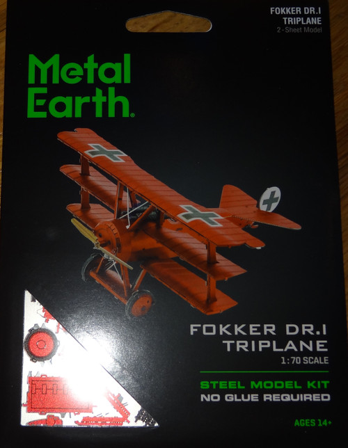 Fokker DR-I Triplane Airplane Metal Earth