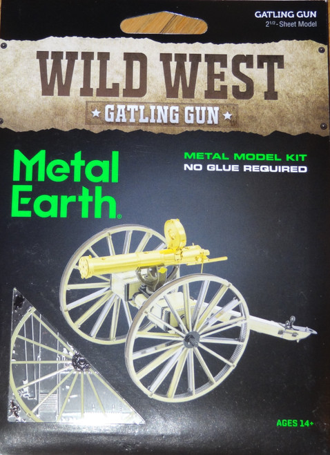 Gatling Gun Wild West Metal Earth