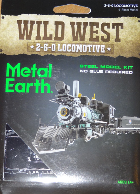 2-6-0 Locomotive Wild West Metal Earth