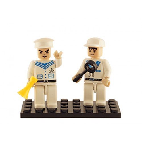 Navy Set of 2 Mini Figures BricTek