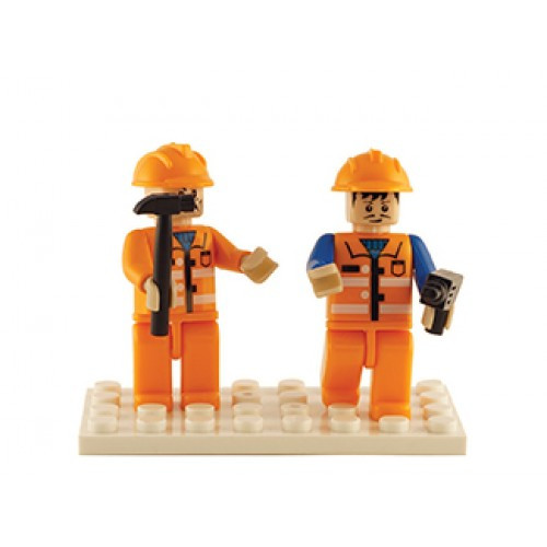Construction Set of 2 Mini Figures BricTek