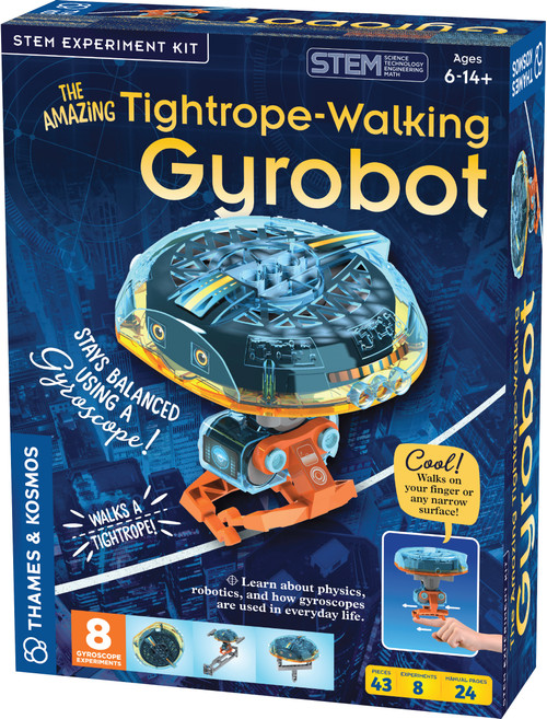 THe Amazing Tightrope-Walking Gyrobot STEM Experiment Kit