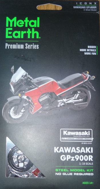 Kawasaki GPz900R ICONX 3D Metal Model Kit