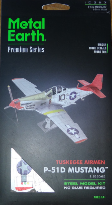 P-51D Mustang Tuskegee Airmen Airplane Metal Earth