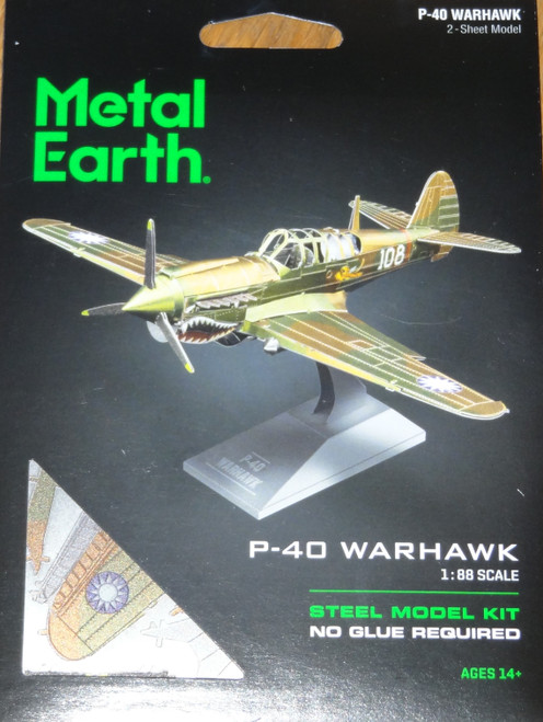 P-40 Warhark Airplane Metal Earth